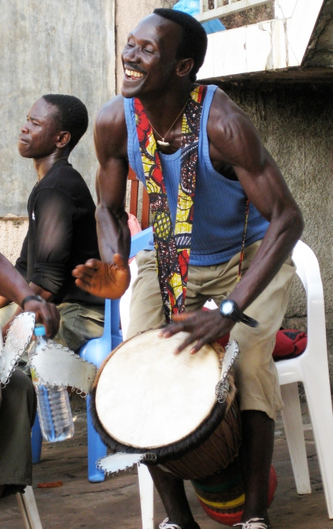 Sayon Camara Playing At A Marriage Fete, Conakry Guinea, 2008