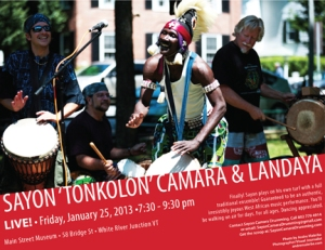 Sayon Camara & Landaya play 1/25/13 in White River Junction VT
