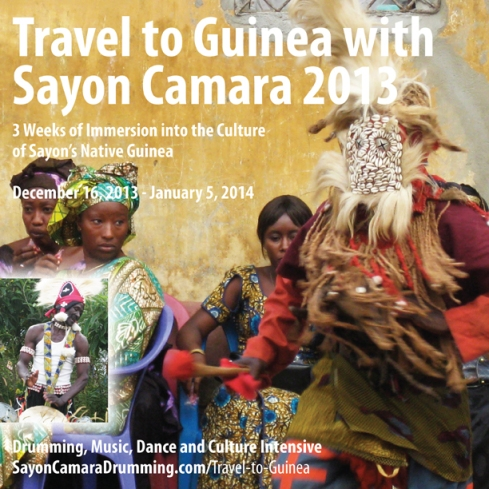 Travel to Guinea with Sayon Camara 2013