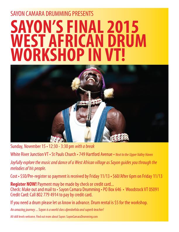 sayon-camara-workshop-drumming-poster