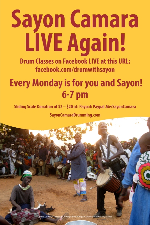 Sayon Camara LIVE! Again on FB Poster